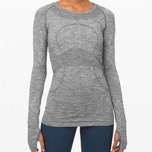 EUC Lululemon swiftly tech grey Long Sleeve Size 6